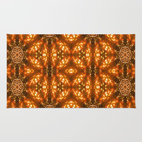 Christmas Goes Gold Area & Throw Rug by Louisa Catharine Design