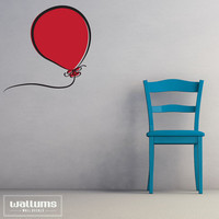 Carina Red Balloon - Vinyl Wall Art Decal Sticker