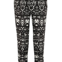 J.Crew - Blurred Ikat printed satin-twill tapered pants