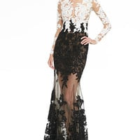 Zuhair Murad Lace-Embroidered Sheer Gown