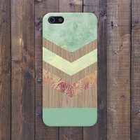 Chevron Green Marble x Fall Harvest Wood Case for iPhone 6 6+ iPhone 5 5s 5c iPhone 4 4s and Samsung Galaxy s5 s4 & s3