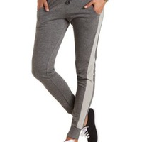 Color Block Sweatpants by Charlotte Russe - Gray