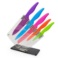 Taylor's Coloured Kitchen Knife Block  at Firebox.com