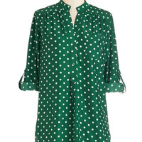 ModCloth Long 3 Hosting for the Weekend Tunic in Evergreen