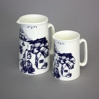 Harbour Scene Bone China Jug