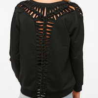 Silence & Noise Braided Knit Detail Sweatshirt