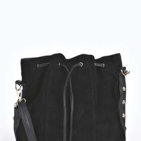 Keira Suede Effect Drawstring Duffle Bag