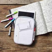 DOODLE NOTECASE FOR IPAD MINI - DRAW ON IT, WASH IT, DO IT AGAIN