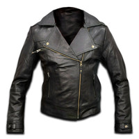 leather jacket, women leather jacket , ladies leather jacket, biker jacket, motorcycle jacket, (Perfecto)