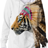 Fight For What You Love • Chief of Dreams: Tiger v.2 Unisex Hoodie Sweatshirt created by soaringanchordesigns | Print All Over Me
