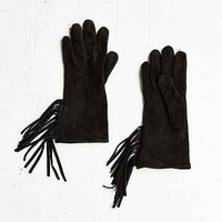 Suede Fringe Glove - Urban Outfitters