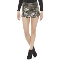 Asymmetrical Ponte Foil Skort from S.o. R.a.d. Collection by Awesomeness TV - Juniors