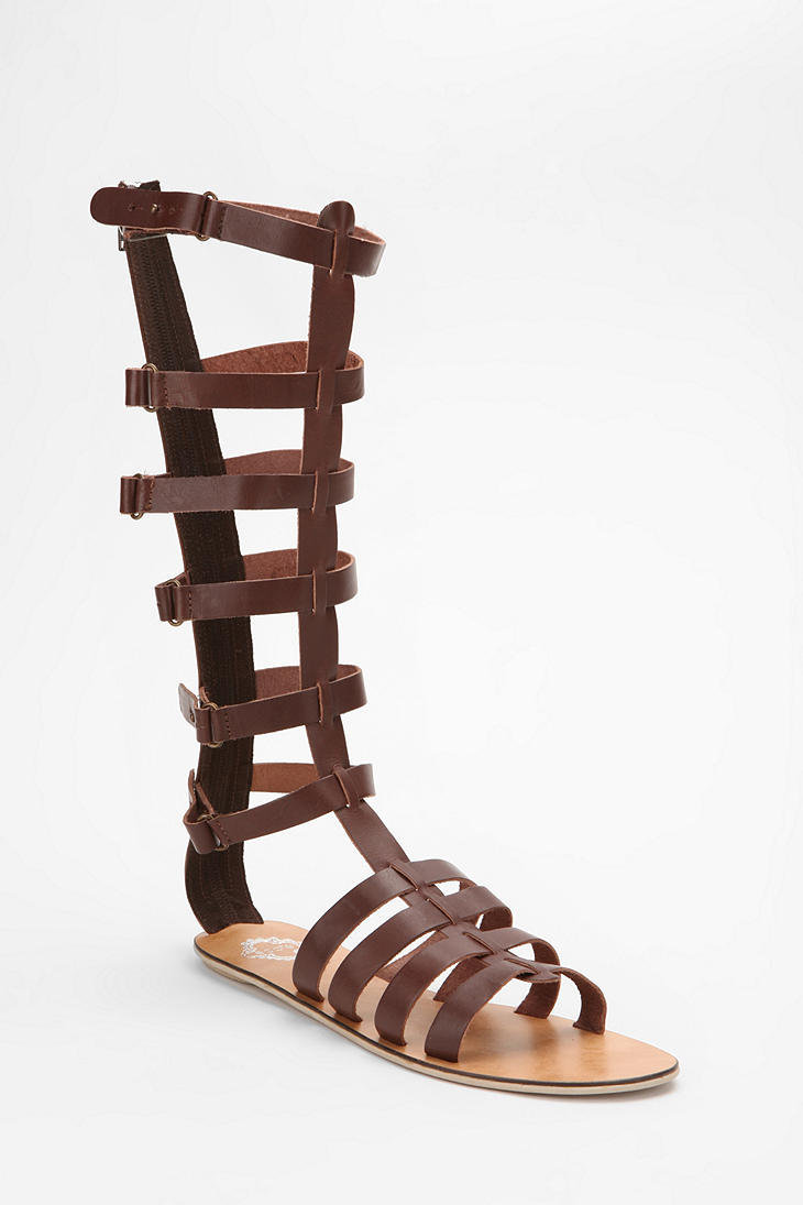 Knee High Gladiator Sandals For Kids