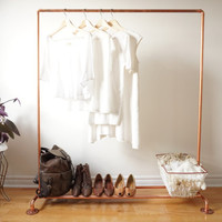 Copper Pipe Clothing Rack / Copper Pipe Garment Rack - 4' Long
