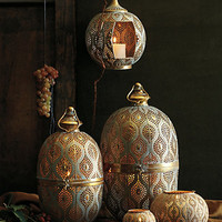 Tantallon Lantern by Anthropologie Gold