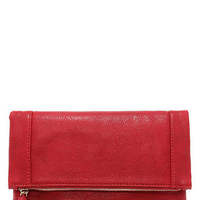 Claire Folding Red Clutch