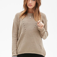Textured Open-Knit Sweater