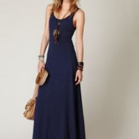 Free People Seamed Open Back Maxi Dress at Free People Clothing Boutique
