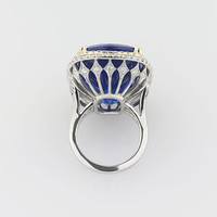 Untreated Tanzanite Ring 45.26 Carats