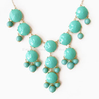 Aqua / Turquoise - Big Size Faceted.. on Luulla