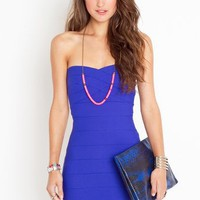 Sweetly Bound Dress - Electric Blue