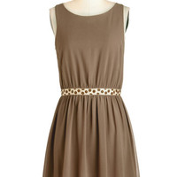 ModCloth Mid-length Sleeveless A-line Cute in Cocoa Dress