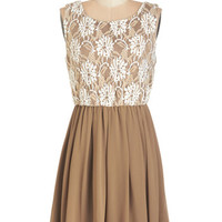 ModCloth Mid-length Sleeveless A-line Tempted by Truffles Dress