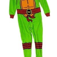 Teenage Mutant Ninja Turtle Fleece Onesuit Pajama Ladies XL