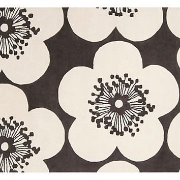 One Kings Lane - Summer Brights - Island Rug, Dark Slate/Ivory