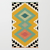 navajo trip Area & Throw Rug by spinL