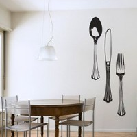 Dining Cutlery Set Wall Art Decals