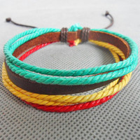 Jewelry bangle leather bracelet women bracelet men bracelet ropes bracelet made of ropes and leather cuff bracelet  SH-2271