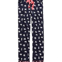 Aerie Women's Flannel Pajama Pant (Royal Navy)