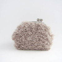 Silver Frame Coin Purse- Soft Grey .. on Luulla
