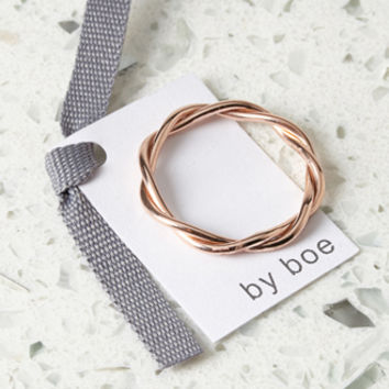 by boe Twisted Band Ring Rose Gold