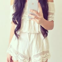 Everything in Its Lace Romper (more colors)