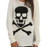 Ivory Skull 'N' Crossbones Girls Sweater