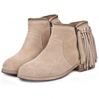Fringed Ankle Booties - OASAP.com