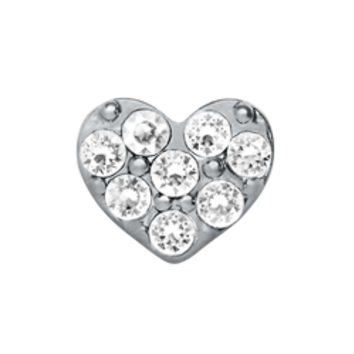 Crystal Silver Heart