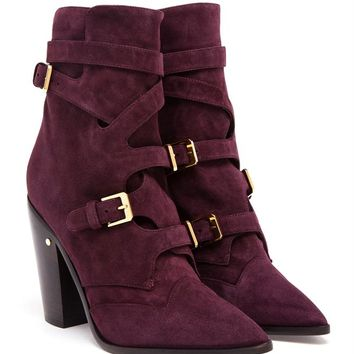 LAURENCE DACADE   Gregoria Suede Buckled Boot   Browns fashion & designer clothes & clothing
