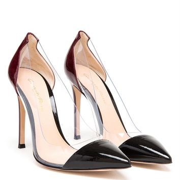 GIANVITO ROSSI   Pointed Two-Tone Perspex Pumps   Browns fashion & designer clothes & clothing