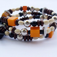 FREE SHIPPING Orange Elegant bracelet,handmade jewelry