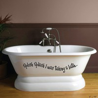 Splish Splash Vinyl Bathroom Bathtub Decal by OneDecalGal on Etsy