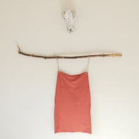Size Large Pencil Skirt in Terracotta - Already Made READY TO SHIP - Hand Dyed High Waist Pencil Skirt in Stretch Knit Cotton - Wear 2 Ways