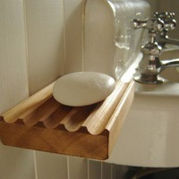 Contemporary wooden soap dish re sawn cedar by andrewsreclaimed