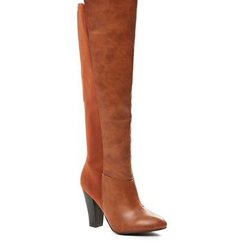 High Low Heeled Over-The-Knee Boot