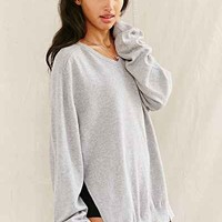 Urban Renewal Recycled Deep-V Side Slit Sweater-
