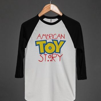 American Toy Story - Color-Unisex White/Black T-Shirt