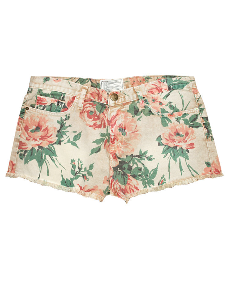 Current Elliott | Boyfriend Denim Floral Shorts by Current Elliott | Glassworks Studios