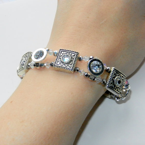 Silver Crystal Bracelet